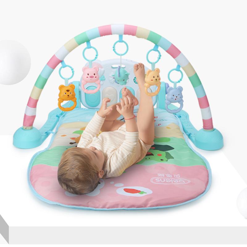 贝恩施婴儿脚踏钢琴宝宝健身架器0-1岁新生儿玩具音乐3-6-12个月