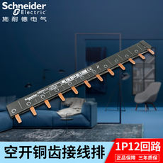 Schneider busbar copper 1P12 position connecting copper row air switch breaker terminal block 12 circuit