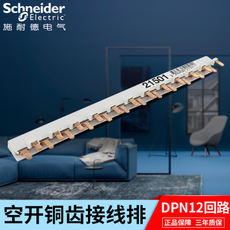 Schneider busbar circuit breaker air switch terminal block DPN double-input and double-out 12-circuit connection copper busbar
