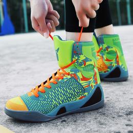 夏季高帮篮球鞋男高帮战靴NBA学生詹姆斯夏季库里2水泥地透气球鞋