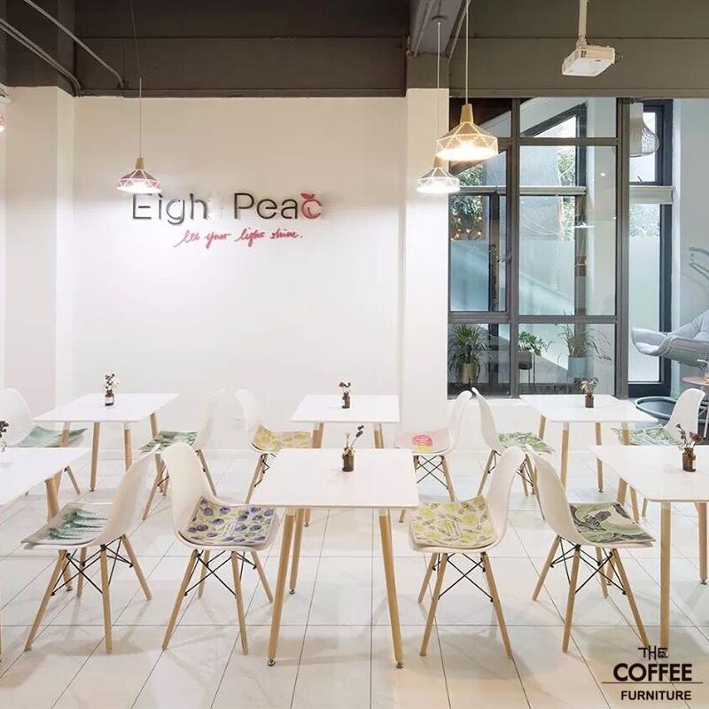甜品店桌椅西餐厅咖啡厅桌椅沙发组合休闲洽谈沙发奶茶店实木组合