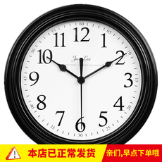 [Daily specials] modern simple clock wall clock living room bedroom home round battery digital clock hanging table