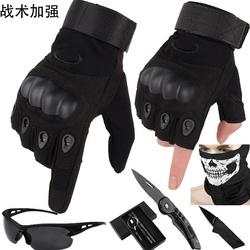 特种兵全指战术手套男士作战户外骑行机车摩托登山军迷漏半指手套
