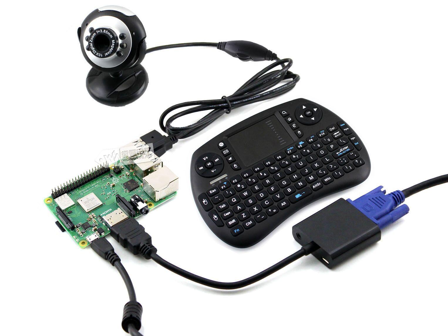 微雪 树莓派3代B+ 带无线键盘鼠标/摄像头/SD卡/电源 套件