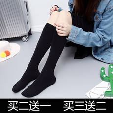 Autumn and winter Japanese tube stockings cotton thick female knee-length concealer socks long high socks half-socks female calf socks