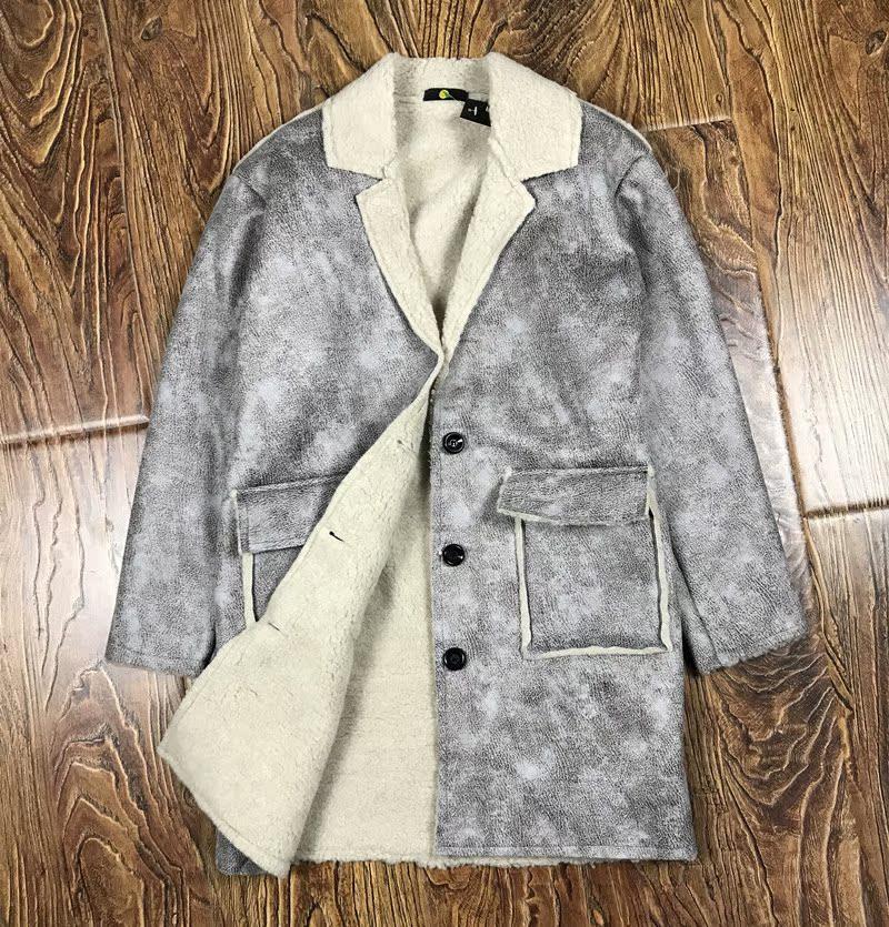 皮衣男休闲加绒皮夹克冬季新款男装皮毛一体中长款加厚保暖外套潮