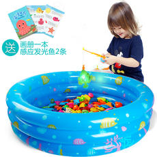 Children's fishing toy pool set magnetic stall child baby toy 1-3 years old 2 play water puzzle girl boy