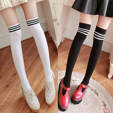 Over the knee socks female student college wind long tube half thigh stockings three anti-skid long high pants socks Japanese