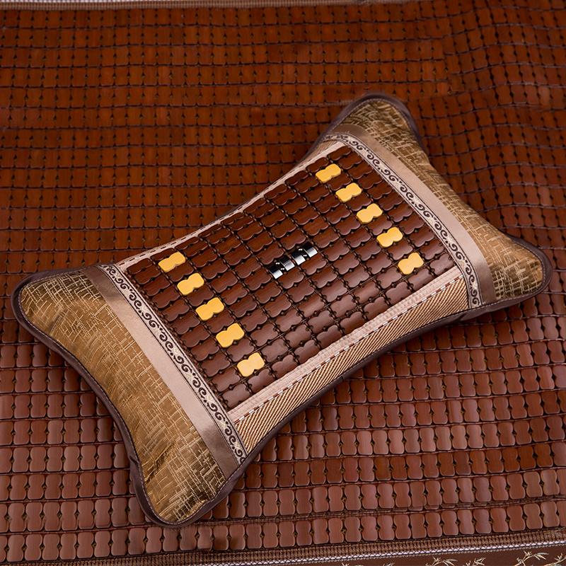 夏天枕头茶叶学生竹席冰丝凉席单人麻将竹枕凉用夏季凉爽成人凉枕