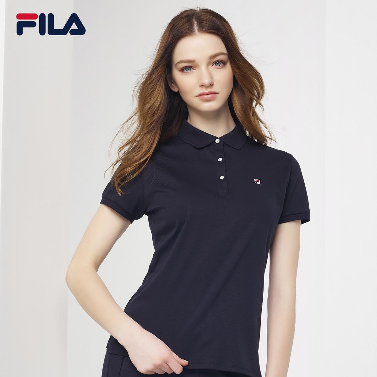 FILA斐乐T恤女2018夏季新款POLO衫纯棉短袖上衣运动T恤女