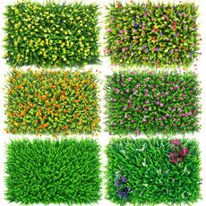 Simulation green plant wall plant wall artificial plastic fake lawn turf green flower wall door interior decoration