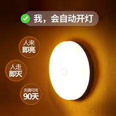 Night light bulb led charging corridor light control voice control aisle wardrobe corridor human body induction household stairs automatic