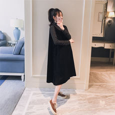 Maternity wear 2018 autumn new Korean version of the corduroy loose fashion pregnant women hot mom in the long paragraph skirt skirt