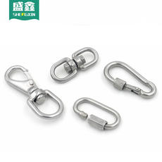 Dog stainless steel connecting ring dog chain buckle dog chain connecting ring anti-winding dog walking chain buckle