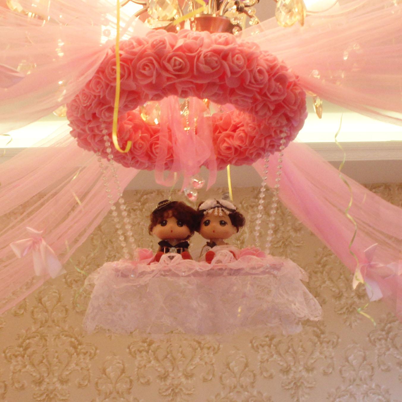 婚庆结婚用品婚礼浪漫婚房装饰新房布置拉花房间挂饰图片