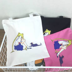 2017 autumn and winter new original simple bag Sailor Moon personality single shoulder canvas bag shopping bag