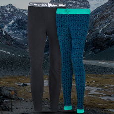 Decathlon outdoor fleece pants Men and women couples fall and warm warm thickening Slim pants liner QUECHUA