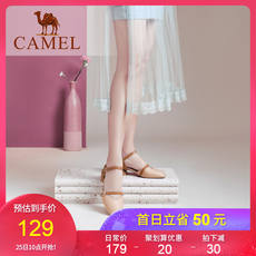 Camel women's shoes Mary Jane shoes female summer Baotou thick with tide shoes wild fairy wind 2019 new sandals women