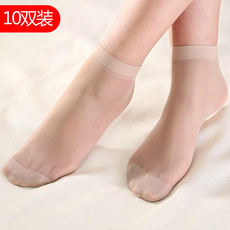 Ms. Summer short stockings thin section dark flesh invisible transparent crystal socks anti-hook silk stockings female socks wholesale