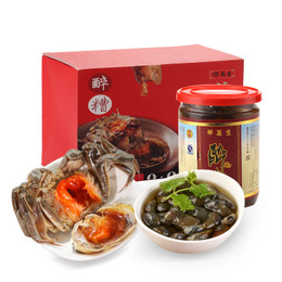 上海特产邵万生老字号醉糟年货礼盒600g金标黄泥螺+400g醉蟹
