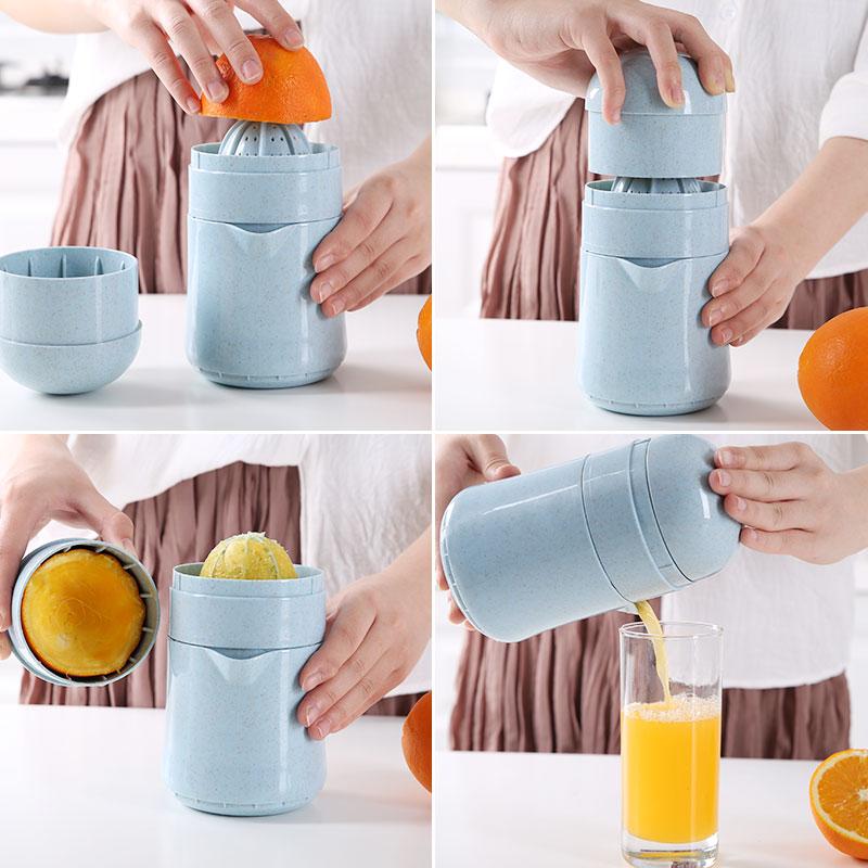 橙汁榨汁机手动简易迷你挤压榨汁杯家用水果小型炸果汁橙子柠檬器