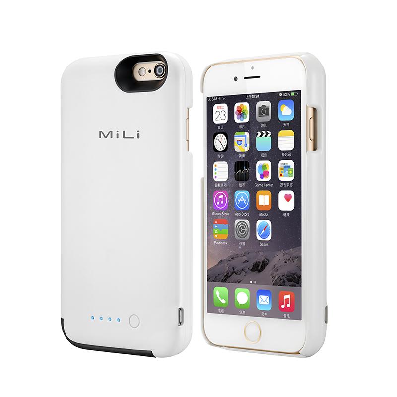 MiLi iphone6背夹电池无下巴便携MFI认证充电宝苹果6s移动电源