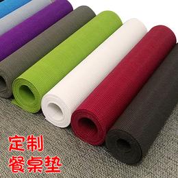 定制规格纯色PVC餐桌垫桌旗餐旗隔热垫西餐垫茶席圆形盘垫可水洗