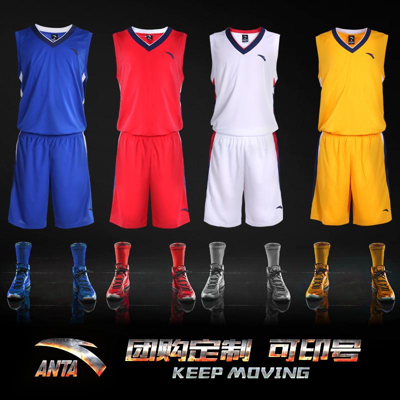 安踏篮球服男运动套装2019夏季新款吸汗透气运动服速干比赛可印号