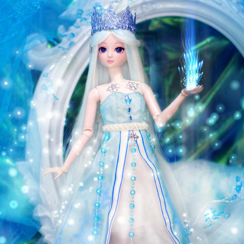 叶罗丽娃娃冰公主正品全套50厘米精灵梦夜萝莉仙子叶图片