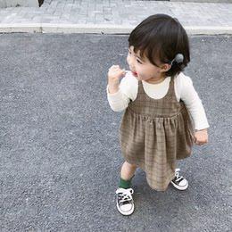 女宝宝春秋装裙子0-1-2岁婴儿连衣裙纯棉吊带裙小童学院风娃娃裙