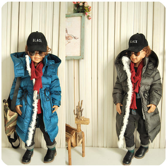 Children's wear down jacket boys and girls fashion big name European and American style baby thick down jacket