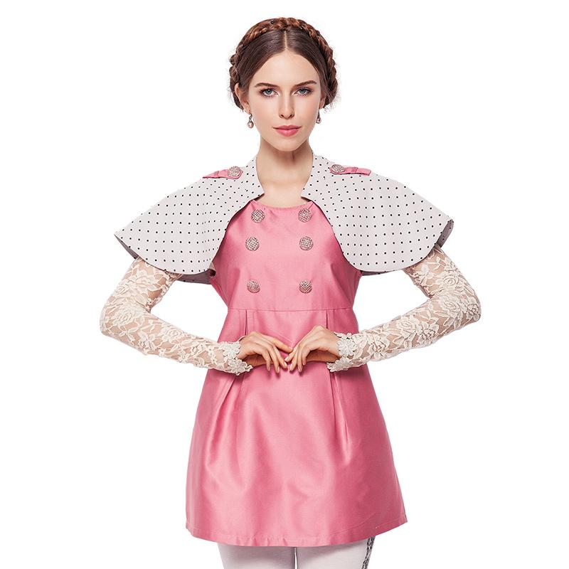 婧麒防辐射服孕妇装正品银纤维防辐射衣服女披肩连衣裙上班四季