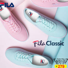 FILA Fila female 2018 spring sports and leisure tennis white shoes canvas shoes | F12W811325F