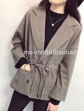 Deep love! Italian single! Giant slimming New foreign hair woolen ageing suit short coat