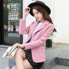 Small woolen coat female short paragraph 2019 spring and autumn new popular temperament waist suit suit woolen coat thin