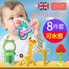 Baby teether molar rod artifact baby bite music Manhattan ball toy chew plastic non-toxic silicone soft boiled