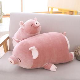 可爱趴趴猪毛绒玩具公仔抱着睡觉的娃娃大号懒人抱枕女孩生日礼物