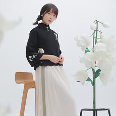 Xu Jiao Zhi Yu set original daily Han element clothes spring new women's dress with Jun Italy embroidery short jacket