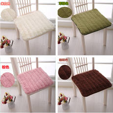 Four seasons universal plush chair cushion non-slip office cushion student stool pad computer chair pad winter dining chair cushion