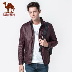 Camel Men's Spring and Autumn Men's Travel Jacket Tops Trends Youth Short Stand Collar Casual Jacket Men