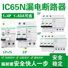 Schneider circuit breaker air switch household leakage protector IC65N 1P/2P/3P4P Vigi ELE