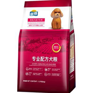 优朗狗粮小型犬小狗成犬粮通用型泰迪贵宾比熊博美去泪痕美毛3kg