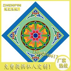Temple ceiling ancient painting painting art ceiling Buddha temple ceiling PVC inkjet ceiling sound-absorbing moisture-proof flower map