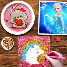 Diamond stickers Children's Day kindergarten handmade diy production materials package girls primary school toys works