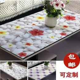 软质玻璃桌垫防水防油防烫免洗桌布隔热台布透明PVC餐桌垫茶几垫