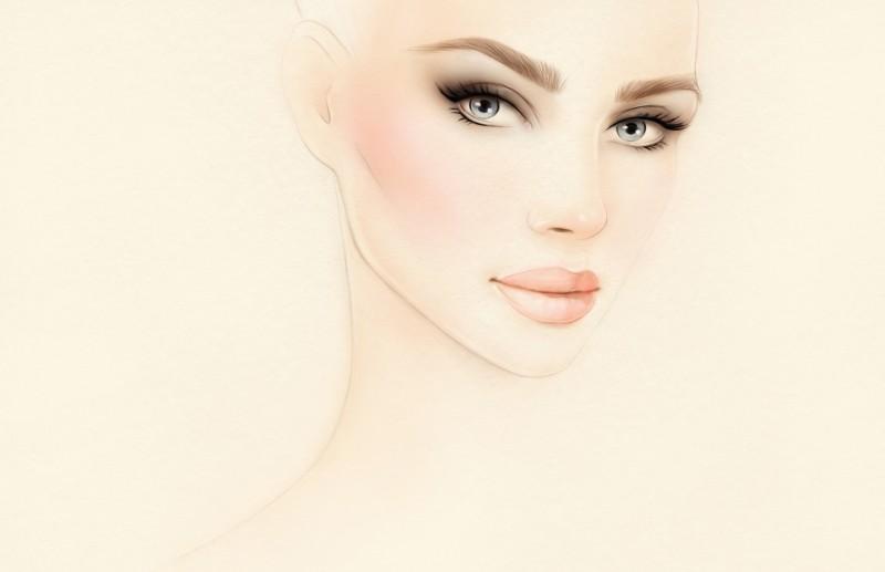 新娘妆彩妆妆容发型造型影楼化妆工作室装饰画化妆学校墙画壁画
