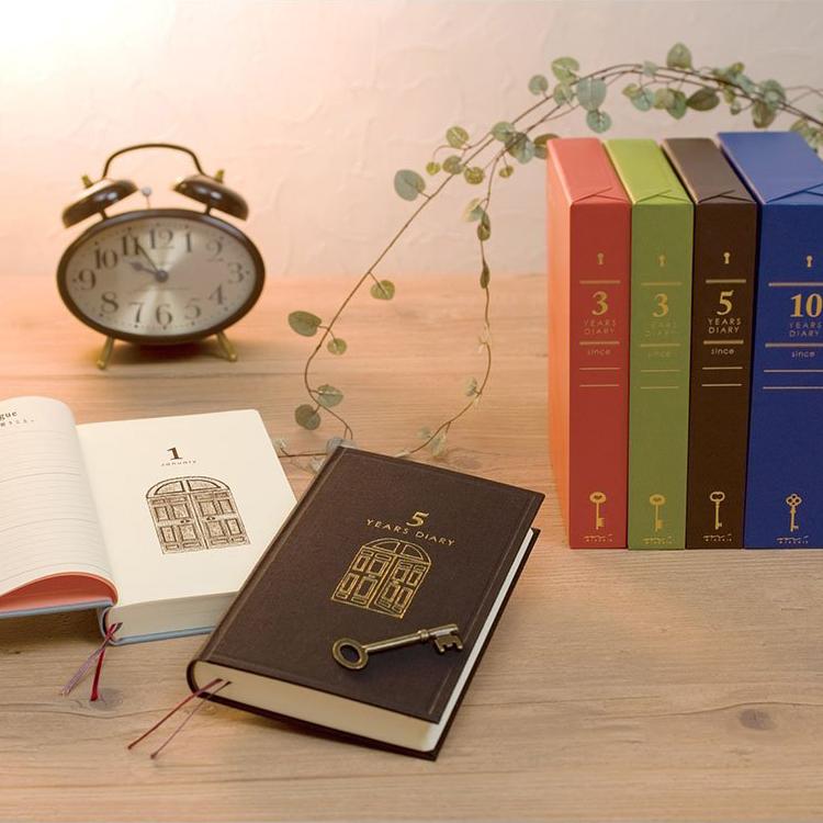 日本原装MIDORI人生日记3年5年10年连用笔记本复古日记本记事本子