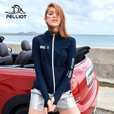 伯希和户外防晒衣女2019新款防紫外线皮肤衣运动休闲风衣UPF50+