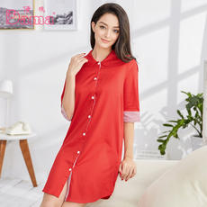 Dama / Karma spring and summer cotton comfortable ladies casual home service nightdress 00TB0072N1