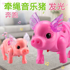 2019 new creative network red children's luminous ropes pig Chinese New Year stalls small toys wholesale night market stalls supply